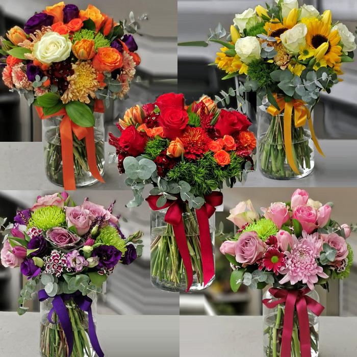 Rengarenk Çiçek Vazoları alt