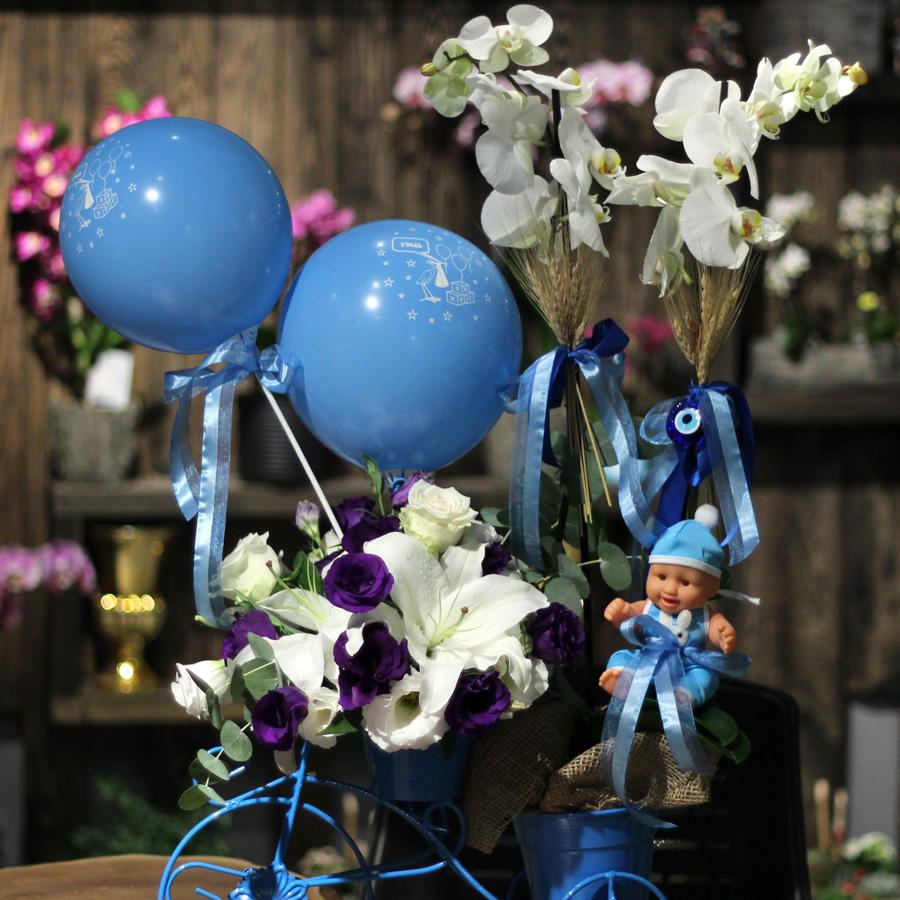 Mavi Bisiklette Orkide alt