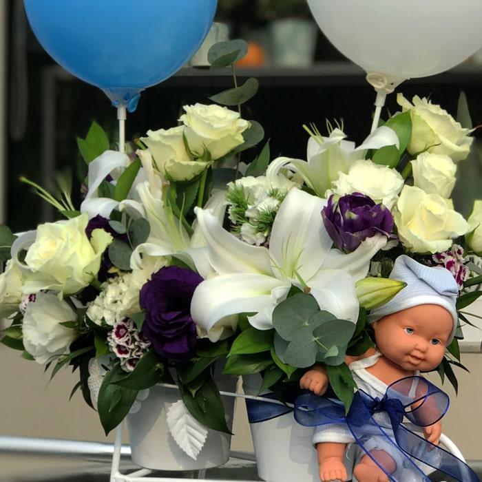 Bisiklette Bebek Çiçeği alt