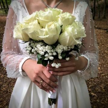 Beyaz Gül Gelin Çiçeği