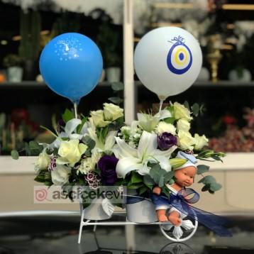 Bisiklette Bebek Çiçeği
