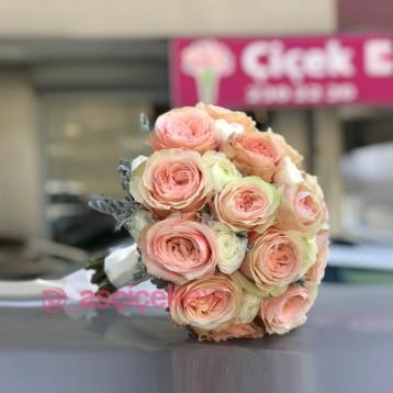 Şakayık Gülleri Gelin Buketi