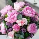 Pembe Şakayık ve Güller