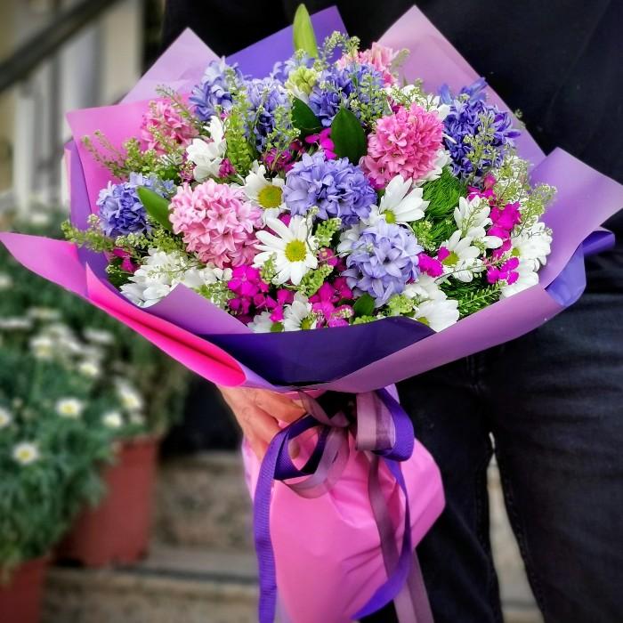 Kokulu Çiçek Buketi alt