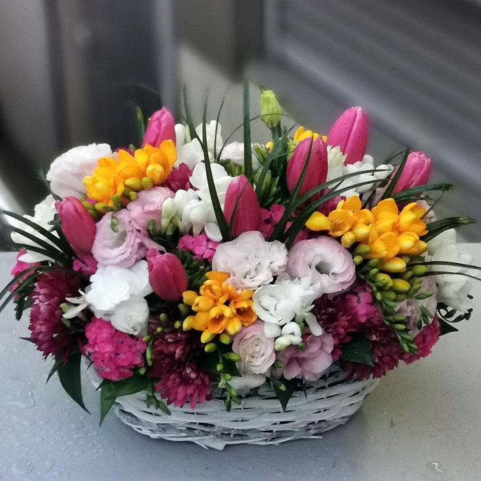 Mevsim Çiçekleri Sepeti alt