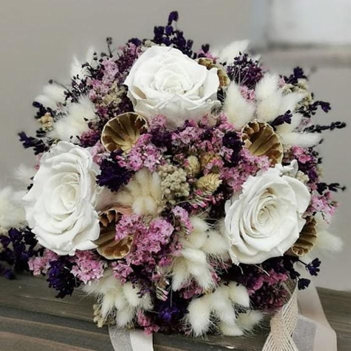 Lavanta Ve Gül Kuru Gelin Çiçeği alt