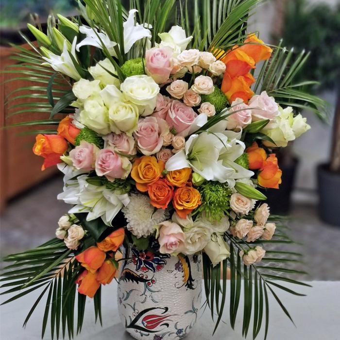 Kütahya Serisi Lilyum ve Güller alt